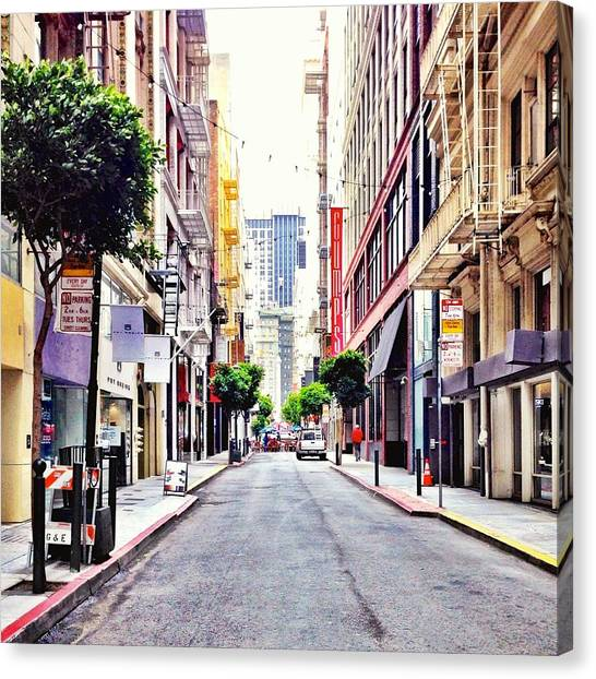 Architecture Canvas Print - Downtown by Julie Gebhardt