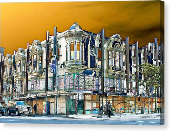 Downtown Los Angeles Corner Facade Canvas Print