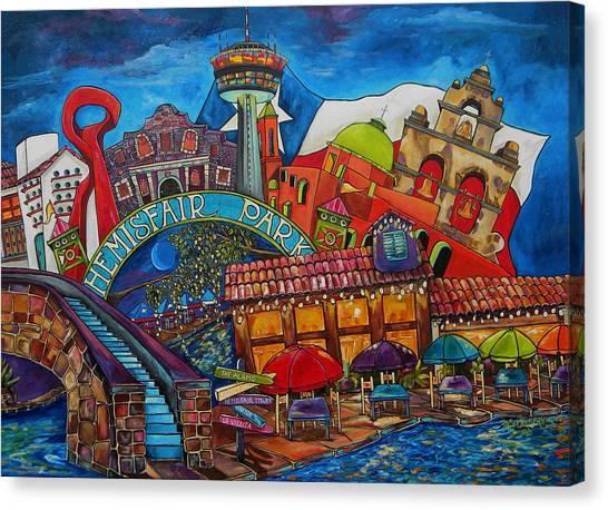 Downtown Montage San Antonio Canvas Print