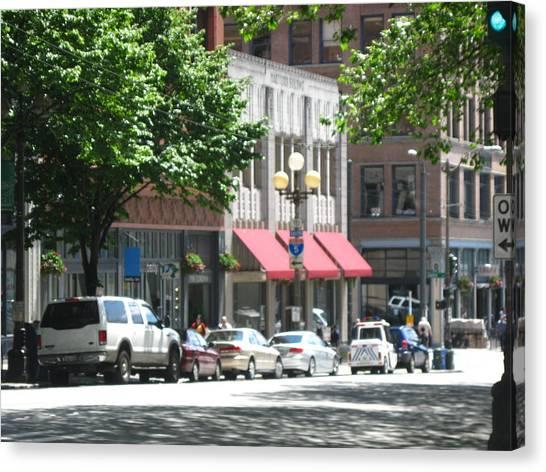 Downtown Neighborhood Canvas Print