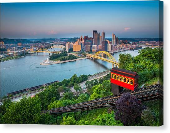 Downtown Pittsburgh, Pennsylvania Canvas Print by HaizhanZheng