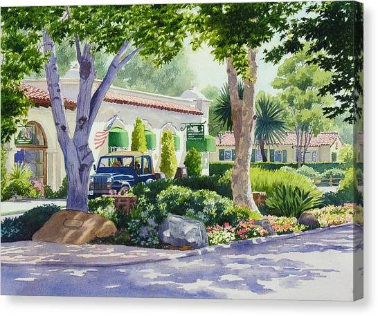 Jeep Canvas Print - Downtown Rancho Santa Fe by Mary Helmreich