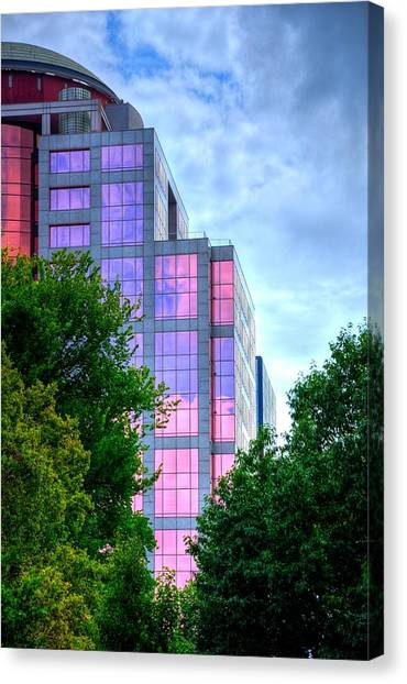 Downtown Reflections 17341 Canvas Print