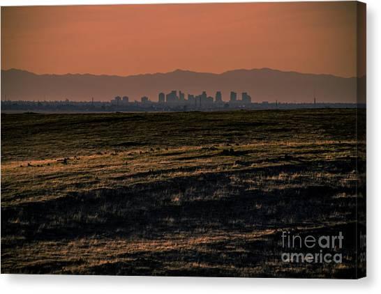 Downtown Sacramento Skyline Canvas Print by Dan Julien