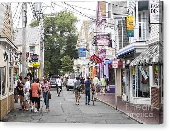 Downtown Scene In Provincetown On Cape Cod In Massachusetts Canvas Print