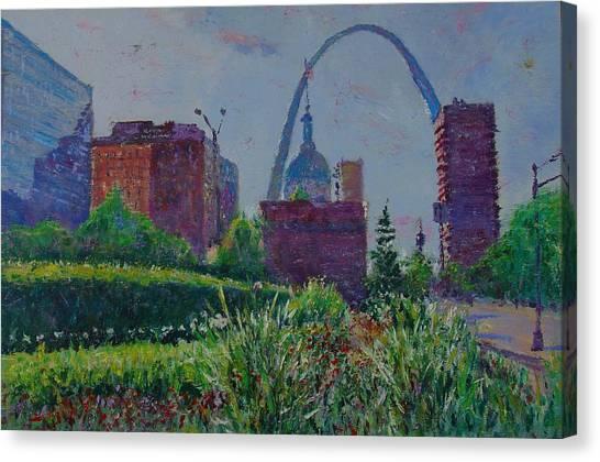 Downtown St. Louis Garden Canvas Print by Horacio Prada