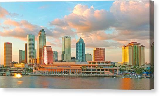 Downtown Tampa Skyline Canvas Print