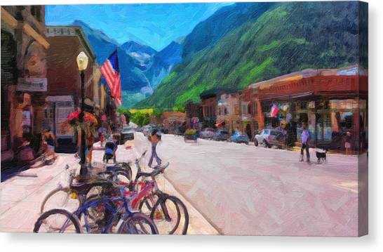 Downtown Telluride Canvas Print