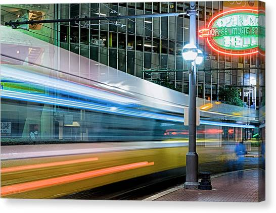 Downtown Train Canvas Print