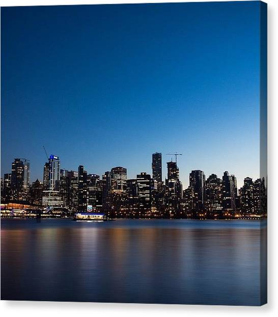 Vancouver Skyline Canvas Print - Downtown Vancouver Skyline by Andrew Burgos