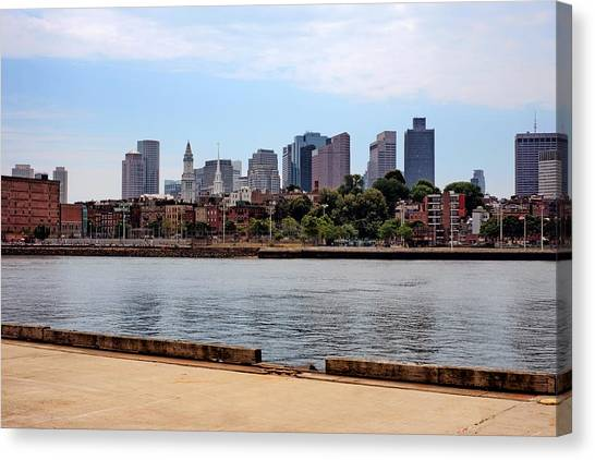 Downtown View In Boston Canvas Print