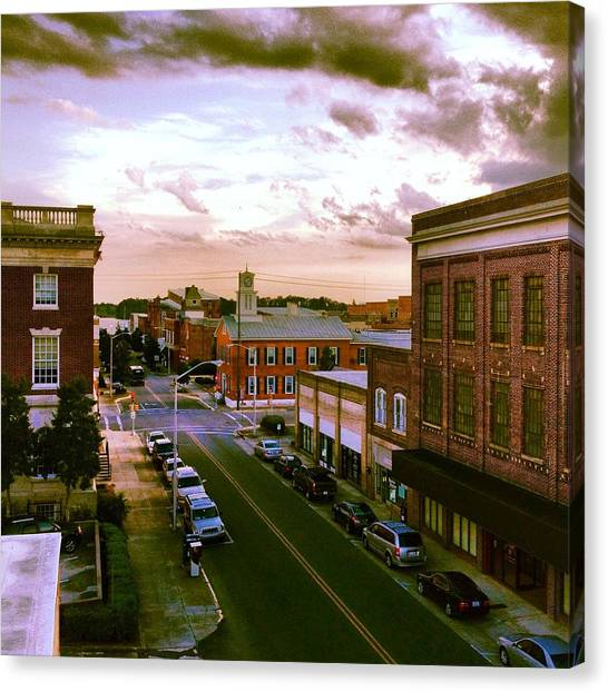 Downtown Washington Nc Canvas Print