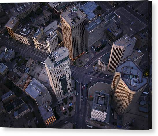 Manitoba Canvas Print - Downtown Winnipeg by Bryan Scott