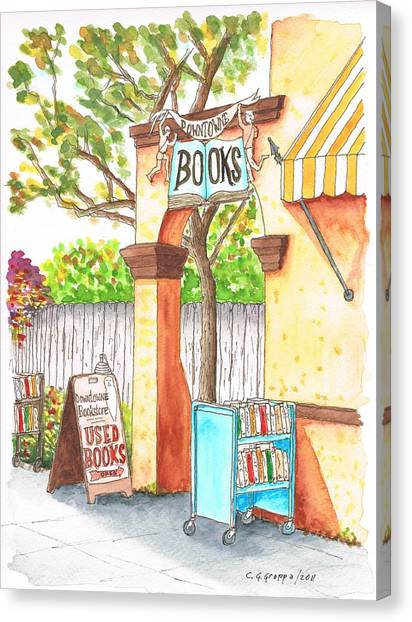 Downtowne Used Books In Riverside, California Canvas Print