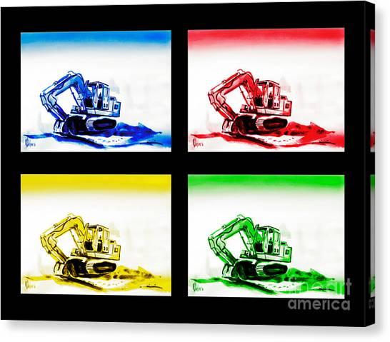 Caterpillers Canvas Print - Dozer Mania Iv by Kip DeVore