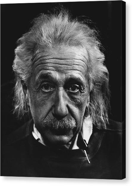 Bombs Canvas Print - Dr. Albert Einstein by Retro Images Archive