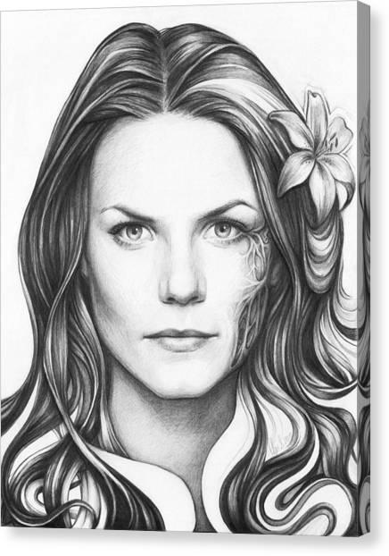 Pencil Art Canvas Print - Dr. Cameron - House Md by Olga Shvartsur