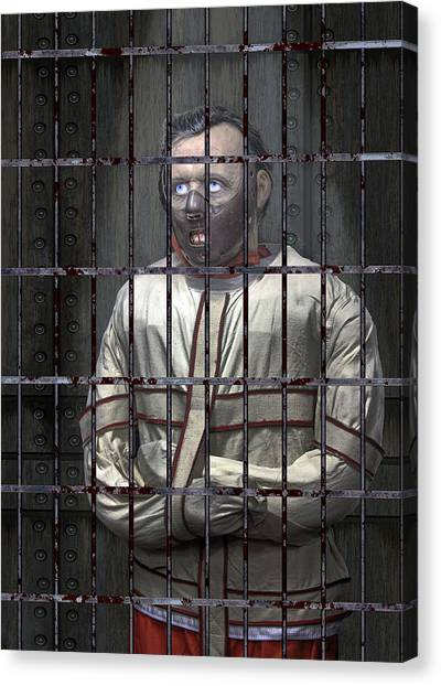 Anthony Hopkins Canvas Print - Dr. Lecter Restrained by Daniel Hagerman