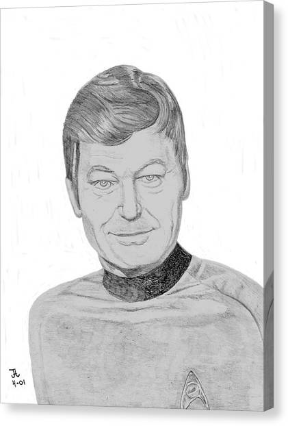 Uhura Canvas Print - Dr. Leonard Mccoy by Thomas J Herring