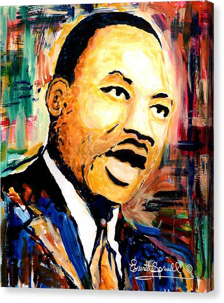 Dr. Martin Luther King Jr Canvas Print