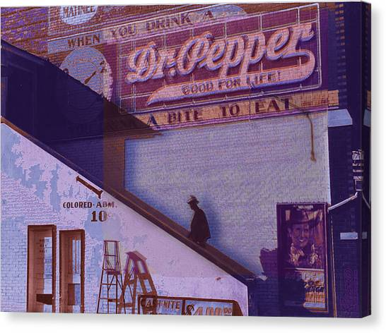 Dr. Pepper Canvas Print - Dr Pepper Blues The Way It Was by Tony Rubino