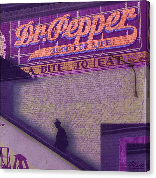 Dr. Pepper Canvas Print - Dr Pepper Blues by Tony Rubino
