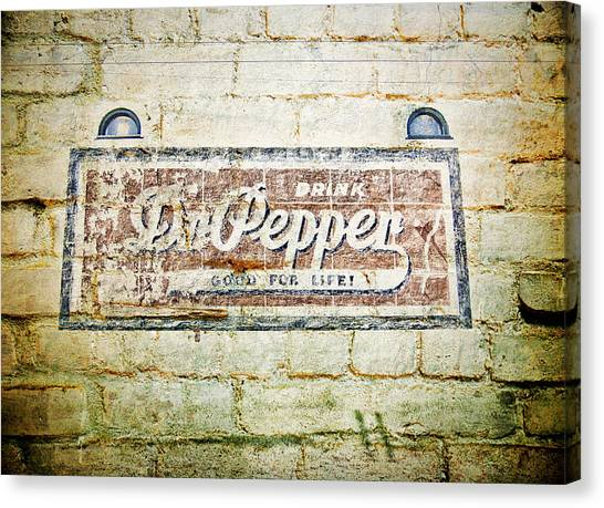 Dr. Pepper Canvas Print - Dr Pepper-good For Life by Douglas Barnard