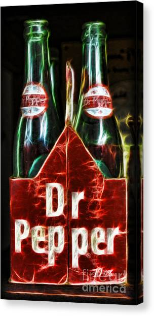 Dr. Pepper Canvas Print - Dr Pepper by Lee Dos Santos