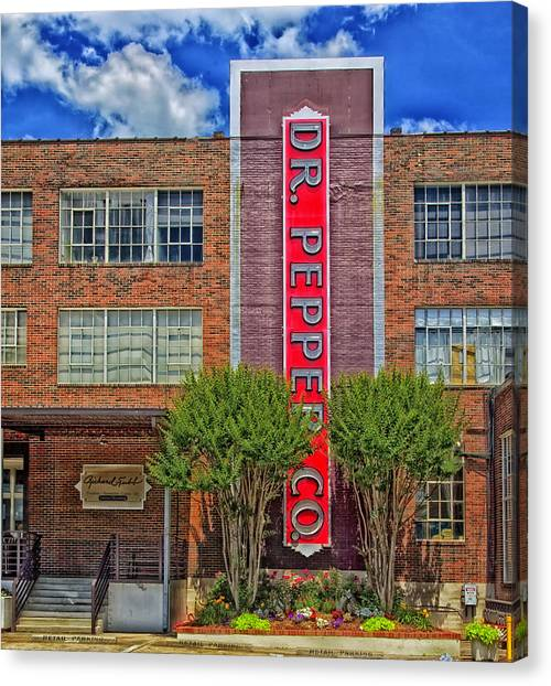 Dr. Pepper Canvas Print - Dr Pepper Place - Birmingham Alabama by Mountain Dreams
