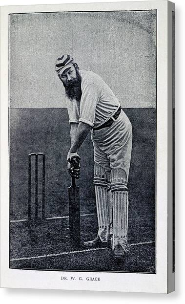 Crickets Canvas Print - Dr. W.g. Grace by British Library