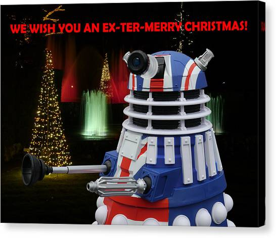 Dr Who - Dalek Christmas Canvas Print