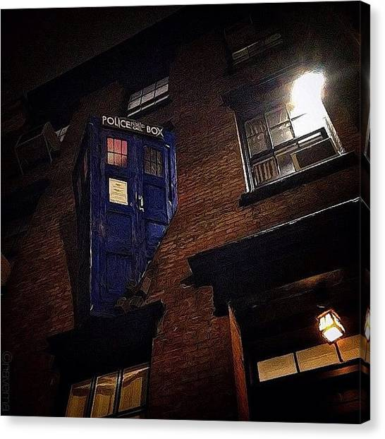 Halloween Canvas Print - Dr. Who Police Box by Natasha Marco