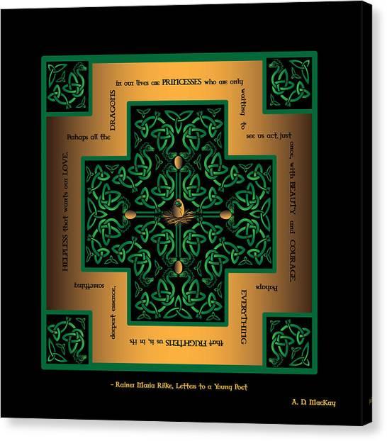Dragon Egg Celtic Cross Canvas Print