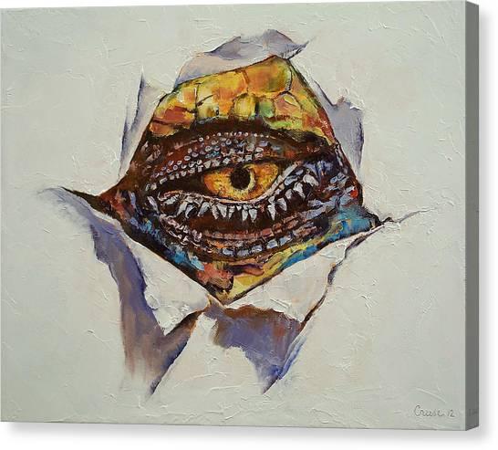 Surrealistic Canvas Print - Dragon Eye by Michael Creese