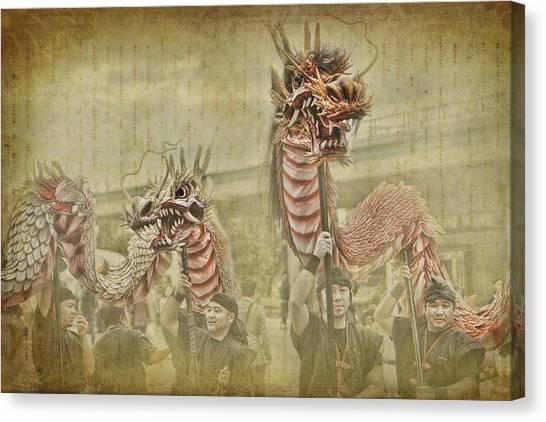 Dragon Festival Canvas Print by Karen Walzer