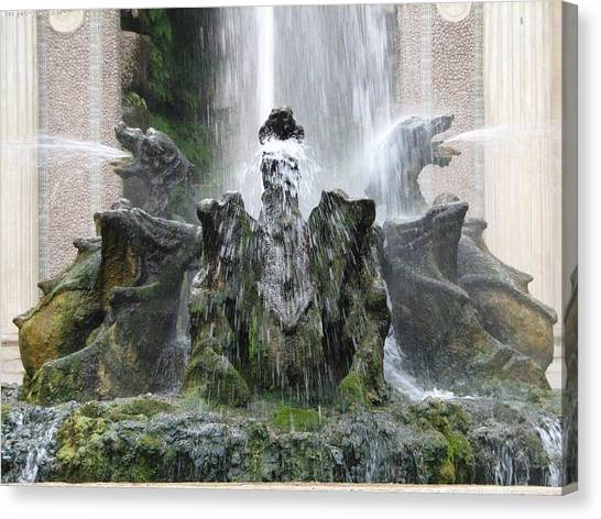 Dragon Fountain Canvas Print