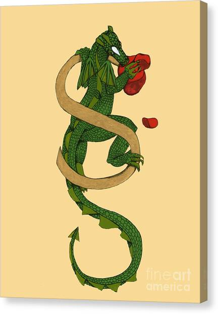 Dragon Letter S Canvas Print