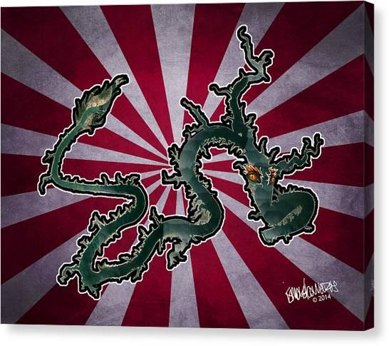 Dragon Of The Colorado Canvas Print