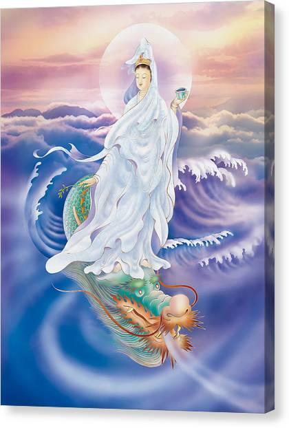 Dragon-riding Avalokitesvara  Canvas Print