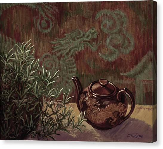 Dragon Teapot Canvas Print