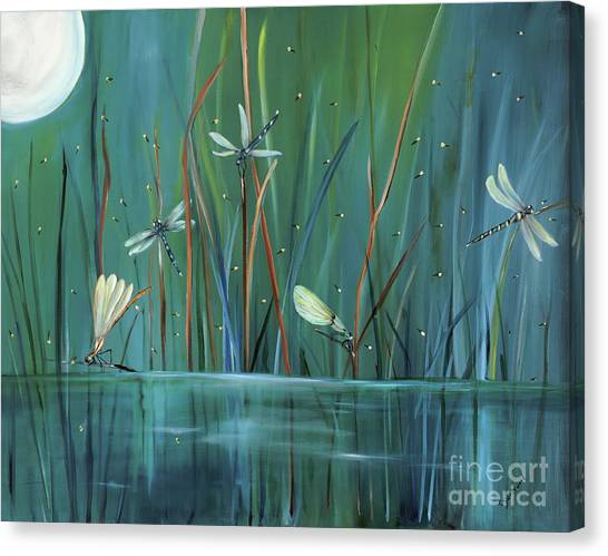 Lightning Canvas Print - Dragonfly Diner by Carol Sweetwood