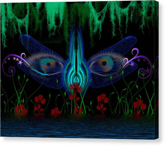 Dragonfly Eyes Series 6 Final Canvas Print