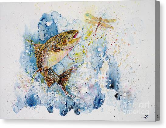 Dragonfly Hunter Canvas Print