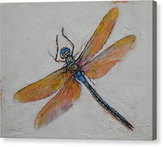 Dragon Fly Canvas Print - Dragonfly by Michael Creese