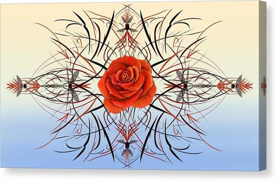 Dragonfly Rose Canvas Print