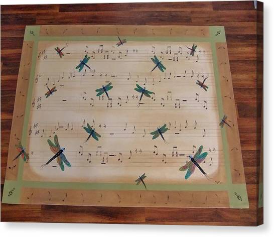 Dragonfly Symphony 64x45 Art For Your Floor Canvas Print