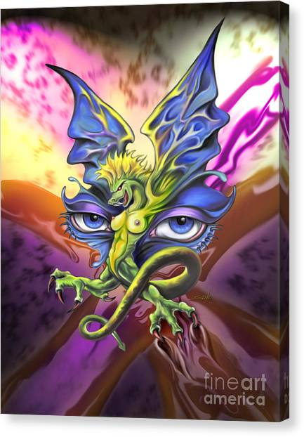 Dragons Eyes By Spano Canvas Print