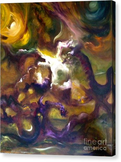 Dragons Canvas Print by Michelle Dommer
