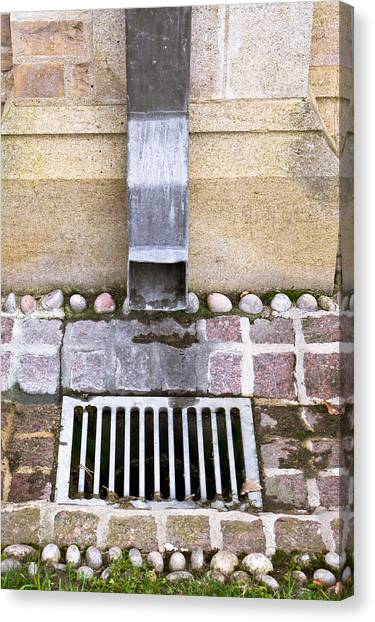 Drain Pipe Canvas Print - Drain by Tom Gowanlock