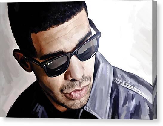 Drake Canvas Print - Drake Artwork 1 by Sheraz A